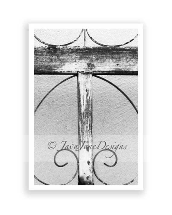 Letter T Alphabet Photography Individual 4x6 Black and White