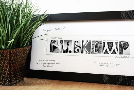 guest book signature frame with name art by javajanedesigns