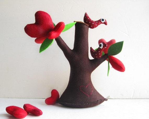 Tree of Love with birds - Felt Tree