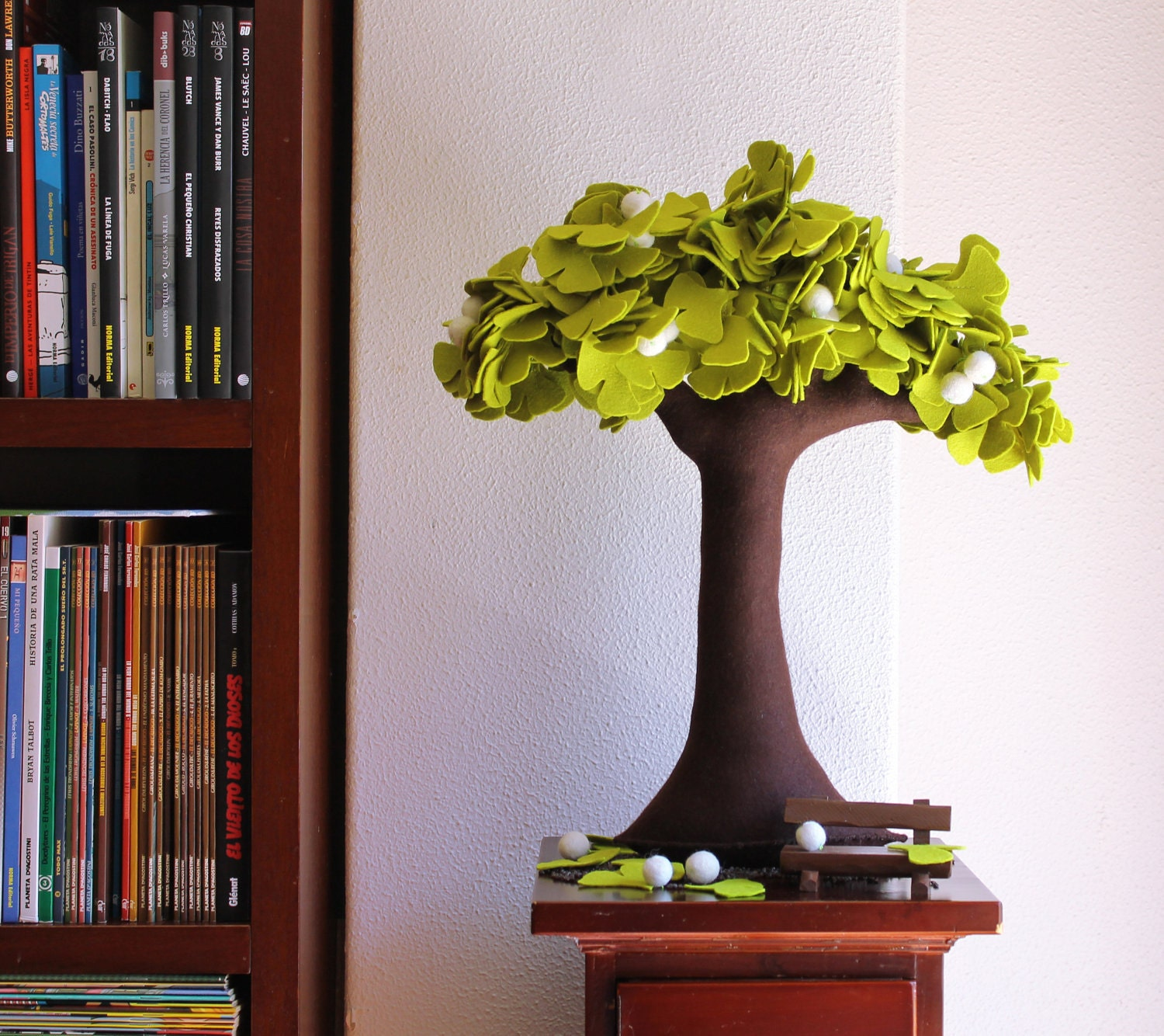 Ginkgo biloba felt tree home decor for Home decor survivor 5