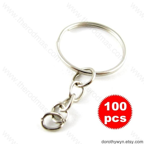 Keychain with Split Ring - 100 pieces - 20mm