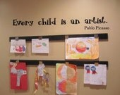 Every child is an artist wall decal 36 x 5 choice of color