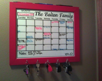 personalized calendar decal to fit 20 x 24 frame or dry erase board decal only