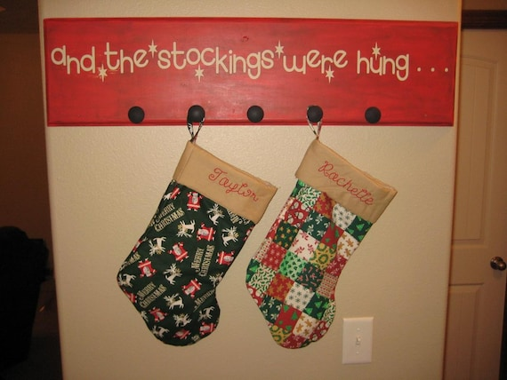 The stockings were hung christmas stockings quote vinyl decal 36 x 3