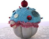 Handmade Mixed Media Cutie Cupcake in a Vintage Tin
