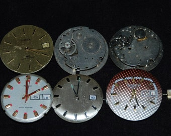 6 Industrial Looking Movments Steampunk Altered Art Industrial