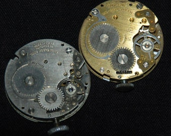 Gorgeous Vintage Antique Industrial  Watch Movements Steampunk Altered Art Assemblage
