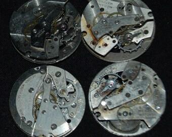 Vintage Antique Round Watch Movements Steampunk RM 46