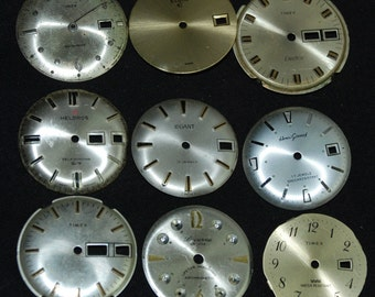 Vintage Antique Watch Dials Steampunk  Faces Parts  F 19