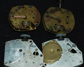 Vintage Antique Industrial Looking Watch Movements Steampunk Altered Art Assemblage IM102