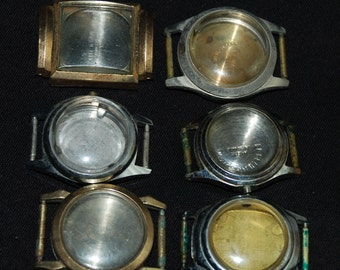 Antique Steampunk Watch Cases Altered Art Industrial  BB68