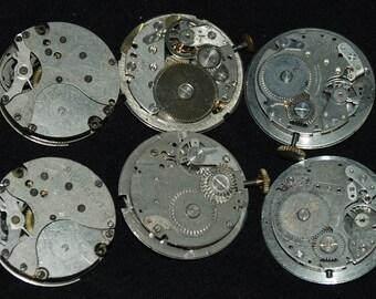 Vintage Antique Round Watch Movements  Steampunk RL22