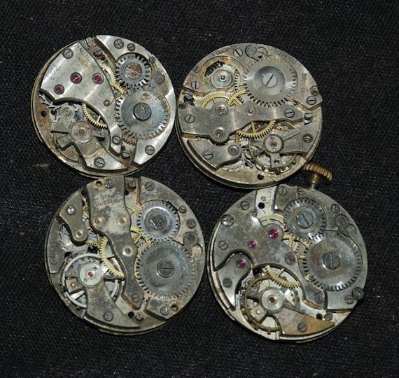 Vintage Antique Round Watch Movements Steampunk P70