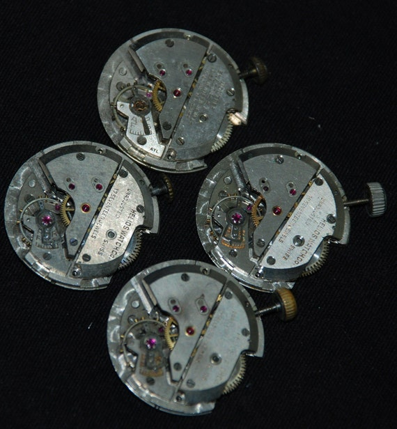SALE see welcome page for details Vintage Antique Round Watch Movements Steampunk Altered Art Assemblage RL17