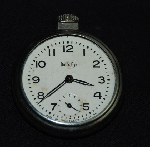 Gorgeous Vintage Antique Watch Pocket Watch Movement Case Body Steampunk Altered Art Assemblage Industrial MB54