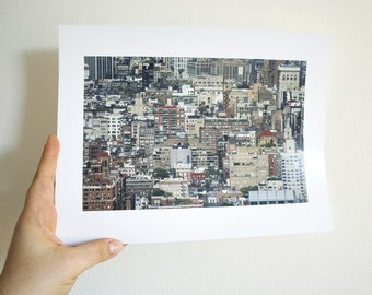 New York Photography - Architectural Landscape by Joy Killed The Poet - 8.5 x 11