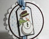 snowman circle card