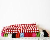 Rainbow Stripe Cotton Blanket