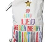 Personalised Christams Santa Sack