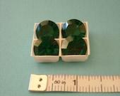 Emerald Swarovski Crystal Doublets