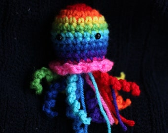 Rainbow Amigurumi Jellyfish