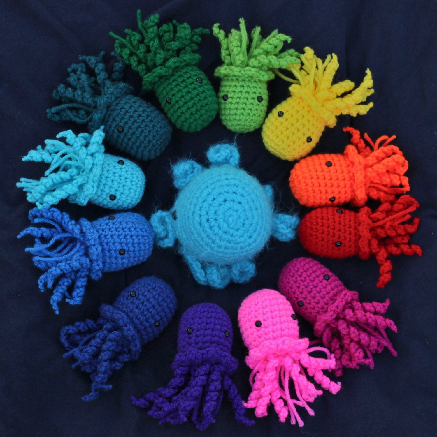Crocheting Stuff : Items similar to Two Jellyfish Amigurumi Crochet Stuffed Animals ...