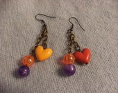Reserved for Barbara B upcycled bead pierced earing