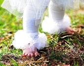 White Baby Tights - Girls white ruffle tutu tights - Perfect for photo prop, Birthday, Wedding, Tutus - All sizes