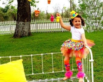 Girls Ruffle Tutu Leg Warmers - Perfect for Birthday, Costume, Photo Prop, Dress up, Fits Girls 6M-6X - ROCK Bunny Legs