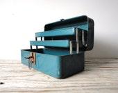 Blue Metal Tackle Box