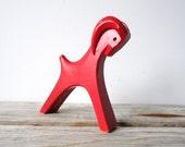 Cyber MONDAY FREE SHIPPING. Red Swedish Goat Figure