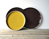 Block Chromatics Germany.  Gold Brown Plate Set