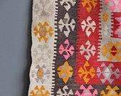 Authentic Handwoven Colorful Kilim Rug - 3 x 5 feet