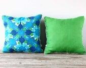 Pair of Vera Neumann Graphic Ink Blot Pillows
