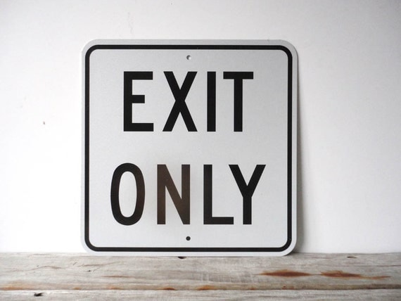Large Industrial Metal Exit Sign