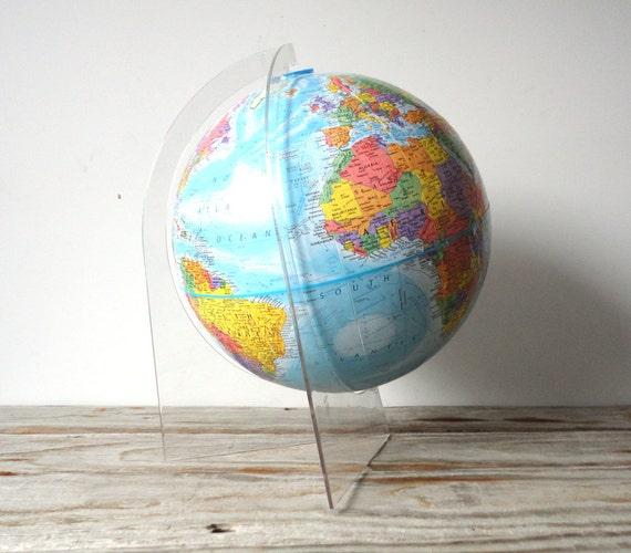 Globemaster World Globe on Clear Stand