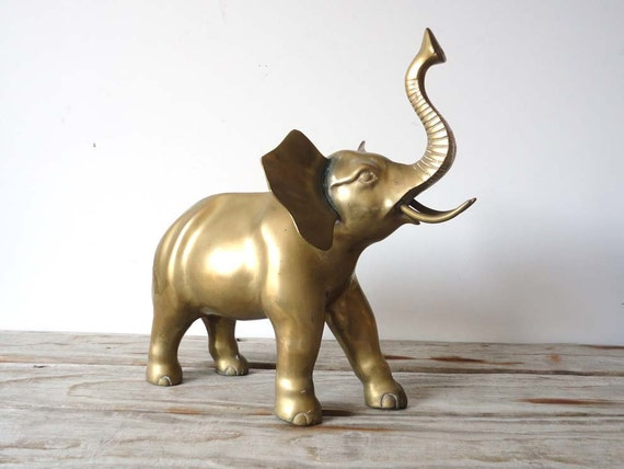 Giant Brass Elephant