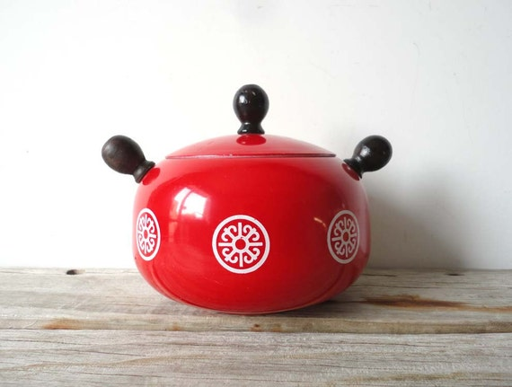 Bright Red Japanese Pot
