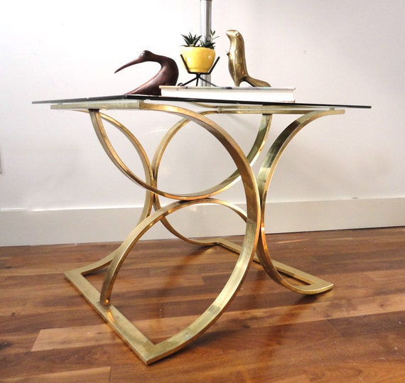 r e s e r v e d Large Brass Side Table Base