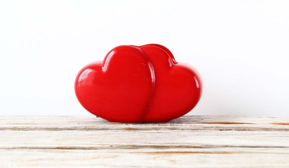 Modern Bright Red Heart Planter