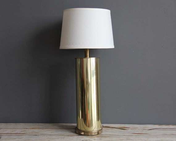 Tall Cylinder Glam Modern Gold Table Lamp