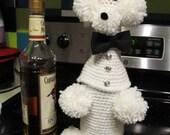 Retro poodle wine bottle cover