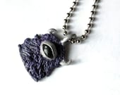 Purple and Silver Monster Necklace