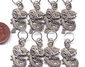Dragon Stitch Markers Roaring Dragons Set of 8 /SM56