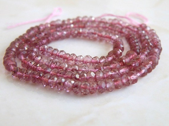Mystic Pink Quartz Rondelle Gemstone Faceted 3.5mm 70 beads 1/2 Strand Wholesale