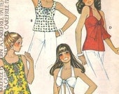 McCall's 4116 Vintage 1974 Summer Tops B 32 1\/2 - 34