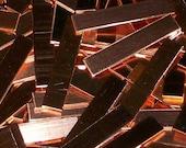Copper Tags - 22 Gauge, stamping blanks, metal blanks, rectangular plates, rectangular tags, rectangular bar, stamping bar