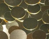 Brass Discs - 18 Gauge, stamping blanks, metal stamping blanks, round blanks, hand stamping blanks, Bopper, brass rounds, stamping supplies