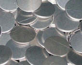 Aluminum Discs - 22 Gauge, stamping blanks, stamping discs, metal blanks, stamping rounds, hypo-allergenic, food safe, Bopper