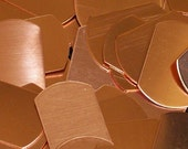 """Copper Dog Tags -  1"""" x 1 1/2"""" - Qty 3, Plain, stamping blanks, metal dog tag, dog blank, military tag, stamping supplies, Bopper"""